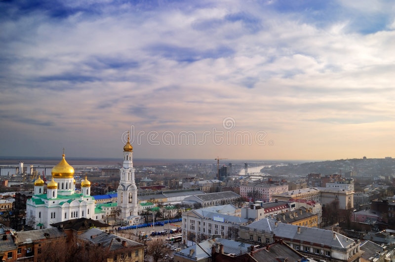 Cathédrale. Rostov-on-Don. image stock