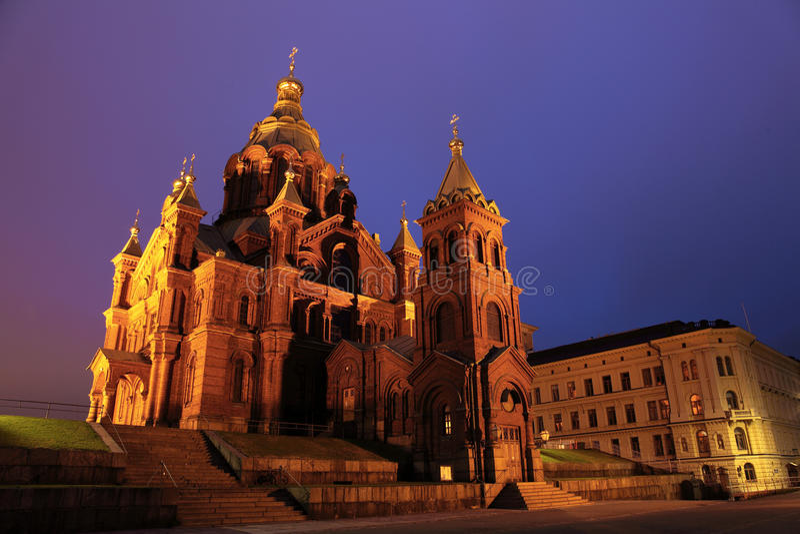 Cathédrale russe à Helsinki image stock