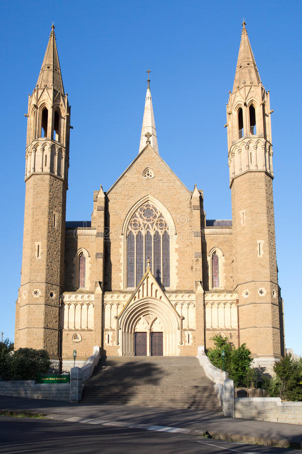 Cathédrale sacrée de coeur dans Bendigo photos stock