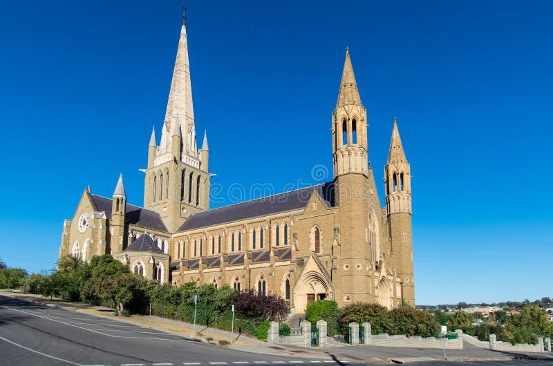 Cathédrale sacrée de coeur dans Bendigo, Australie photos libres de droits