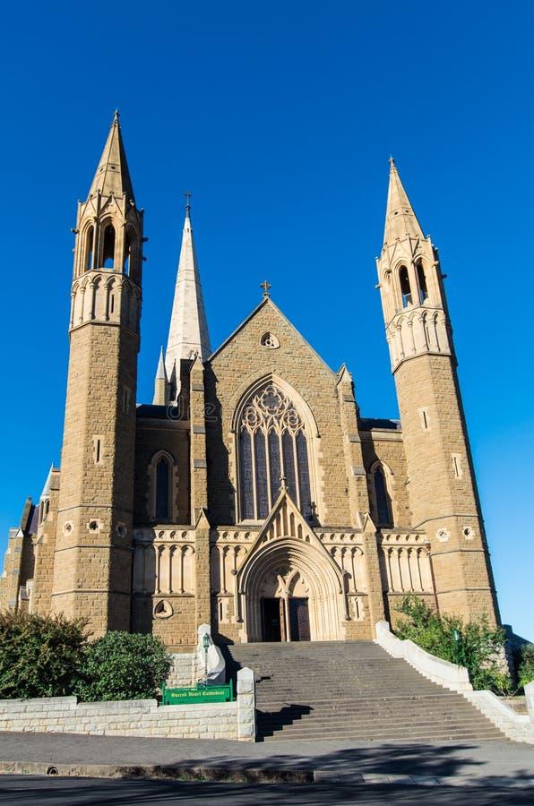Cathédrale sacrée de coeur dans Bendigo, Australie photo libre de droits