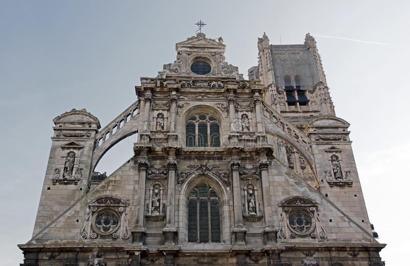 Cathédrale Saint Etienne (Auxerre) photo stock