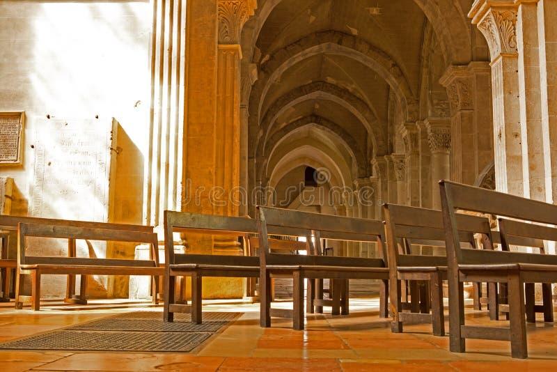 Cathédrale Saint Vincent, sur Saone, France de Chalon images stock