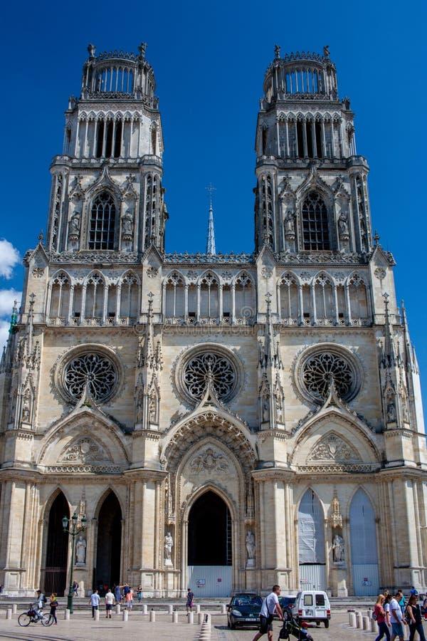 Cathédrale Sainte-Croix in Orléans, France stock photography