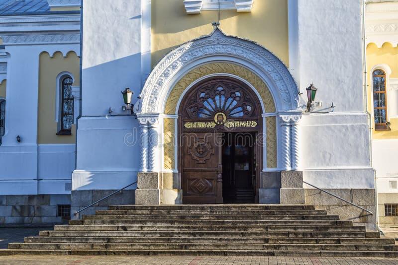 Cathédrale sainte de Transfiguration Zhytomyr Zhitomir l'ukraine images stock