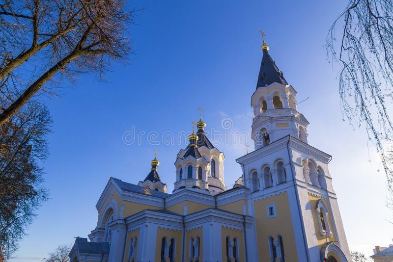 Cathédrale sainte de Transfiguration Zhytomyr Zhitomir l'ukraine images libres de droits