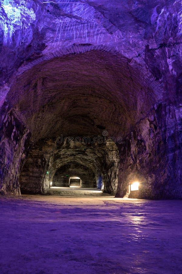 Cathédrale souterraine de sel - Zipaquira, Colombie image stock