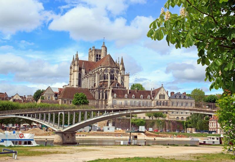 Cathédrale St Etienne, Allemand de St d'abbaye, (Frances d'Auxerre) photo libre de droits