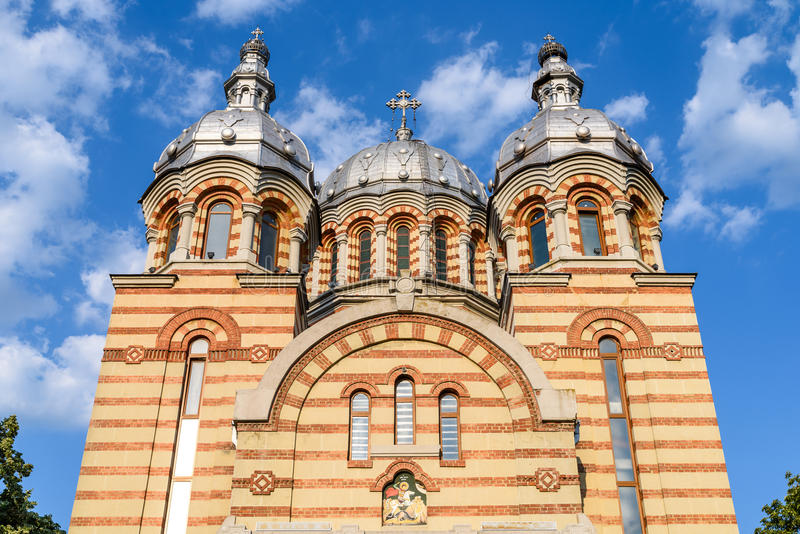 Cathédrale St George (Sfantul Gheorghe) dans Tecuci image stock