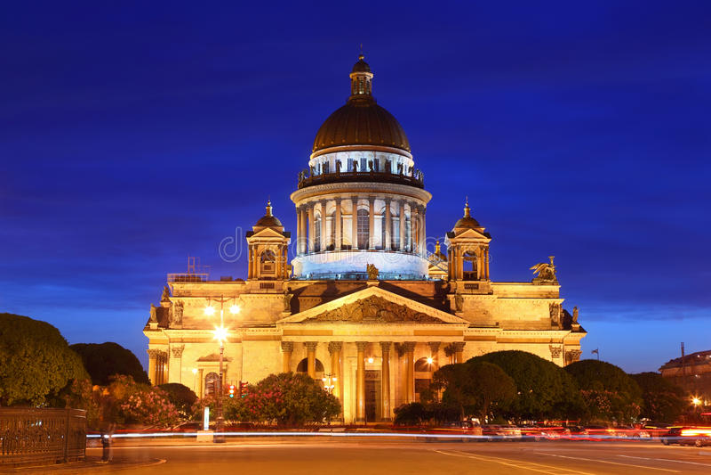 Cathédrale St Petersburg de rue Isaac photos libres de droits