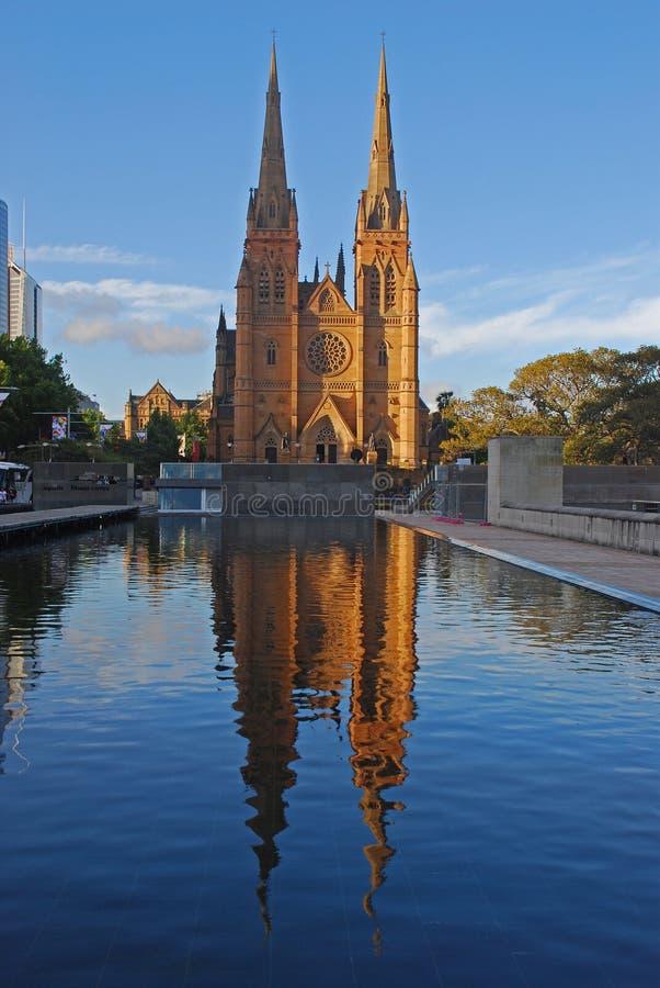 Cathédrale Sydney de rue Mary image libre de droits