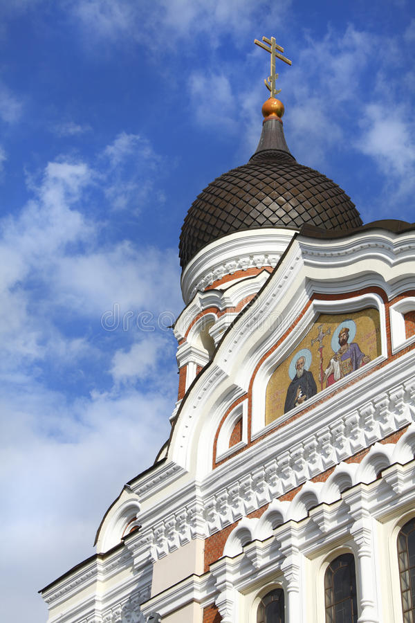 Cathédrale Tallinn de rue Alexandre Nevsky photo stock
