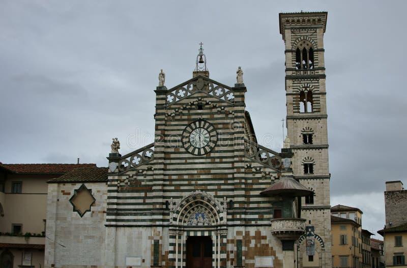 Cathédrale Toscane de Prato photographie stock libre de droits