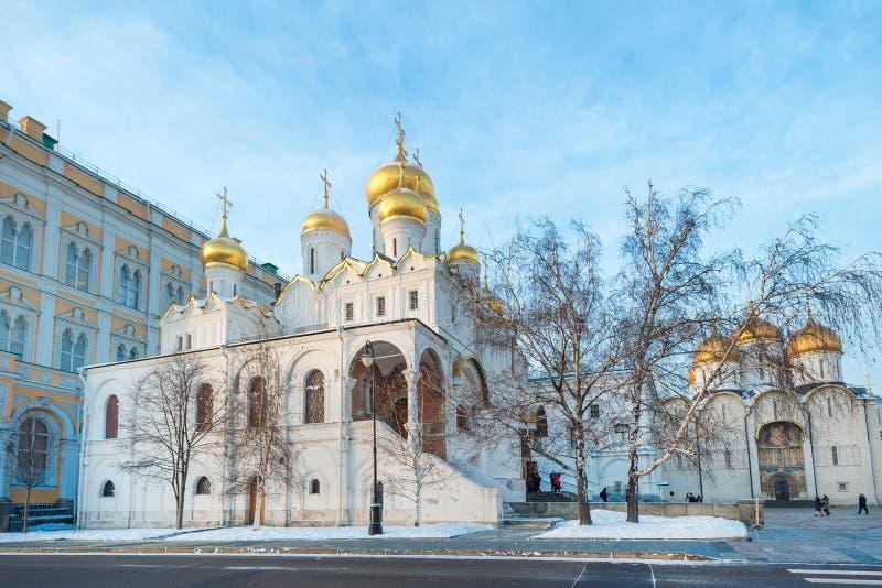 Cathédrales de Moscou Kremlin images libres de droits