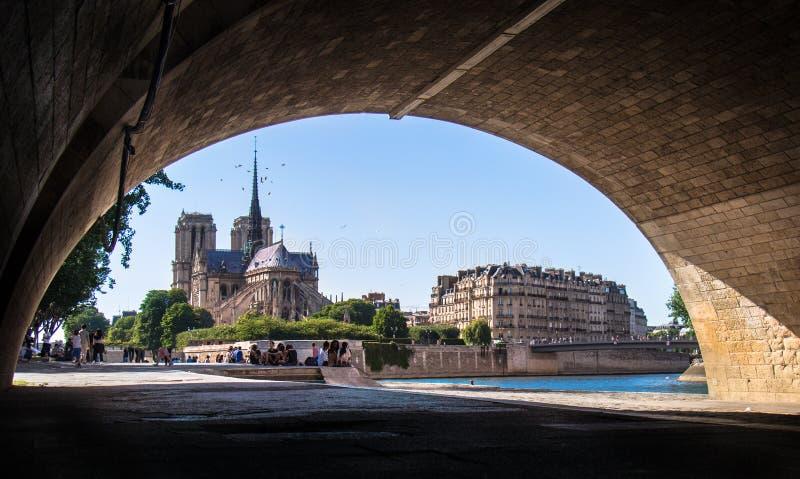 cath κυρία de drale notre Παρίσι στοκ φωτογραφία με δικαίωμα ελεύθερης χρήσης