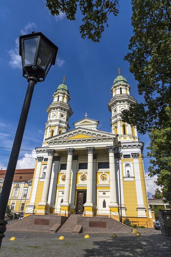Cath?drale catholique grecque dans la ville d'Uzhhorod, Ukraine photo libre de droits