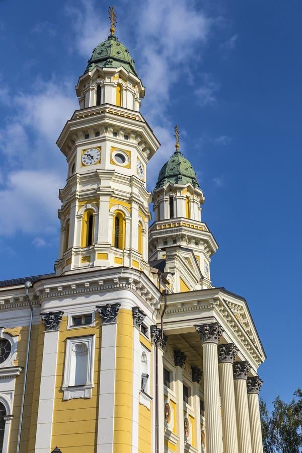 Cath?drale catholique grecque dans la ville d'Uzhhorod, Ukraine photo stock