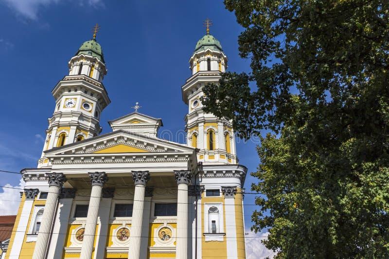 Cath?drale catholique grecque dans la ville d'Uzhhorod, Ukraine image stock