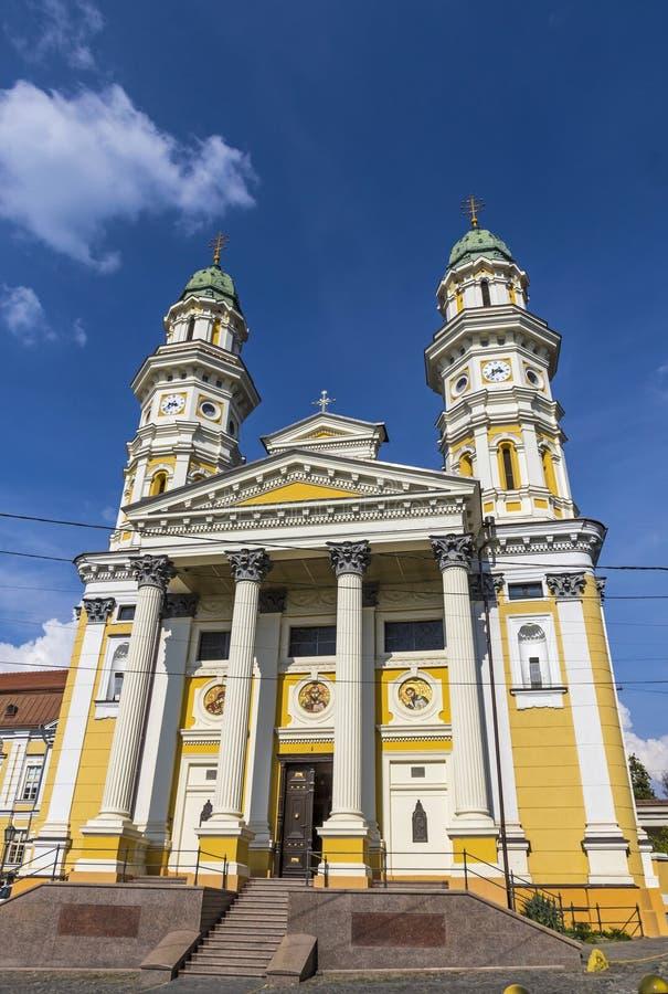 Cath?drale catholique grecque dans la ville d'Uzhhorod, Ukraine photos libres de droits