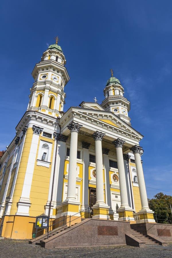 Cath?drale catholique grecque dans la ville d'Uzhhorod, Ukraine photos stock