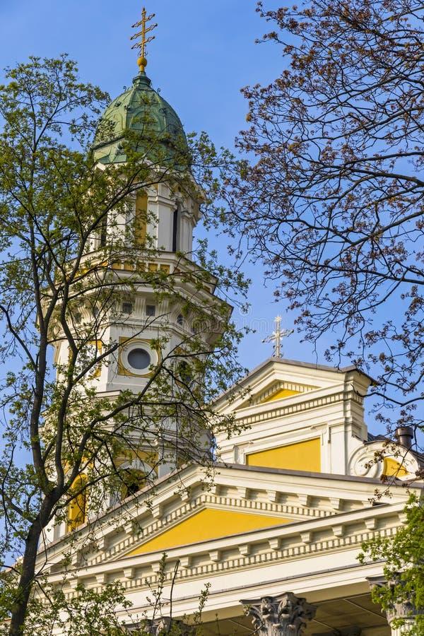 Cath?drale catholique grecque dans la ville d'Uzhhorod, Ukraine image libre de droits