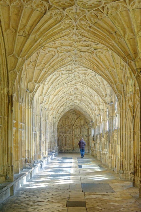 Cath?drale de Gloucester intérieur et emplacement antiques de film de Harry Potter photographie stock