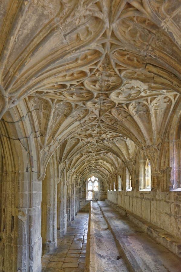 Cath?drale de Gloucester intérieur et emplacement antiques de film de Harry Potter images stock
