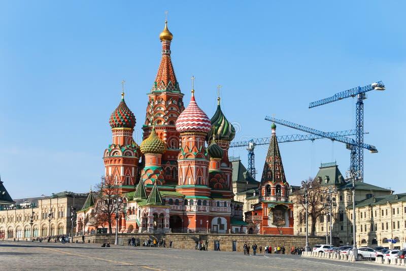 Cath?drale du ` s de Basil de saint ? Moscou images stock