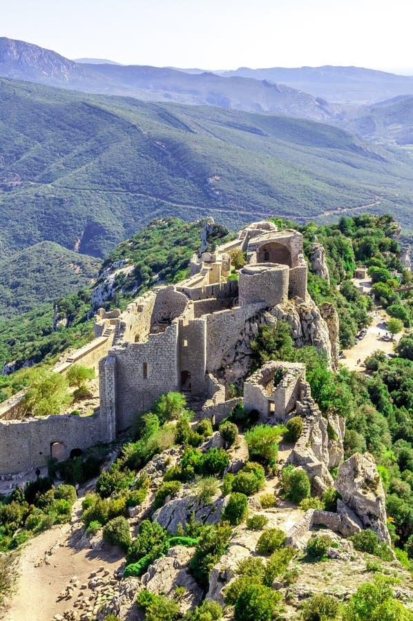 Cathar κάστρο Peyrepertuse στοκ φωτογραφίες