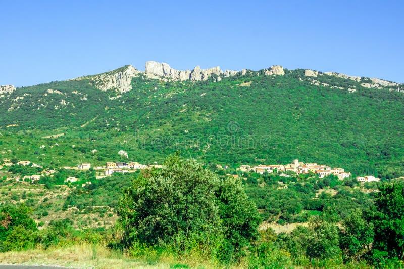 Cathar κάστρο Peyrepertuse στοκ εικόνα