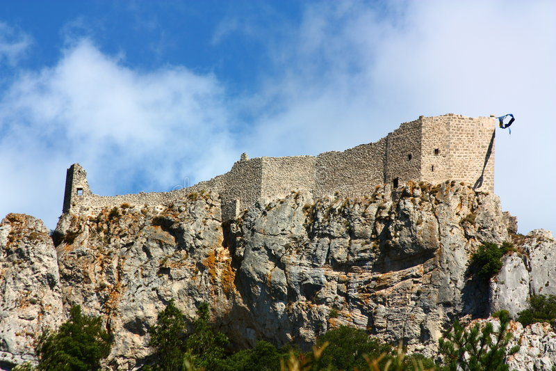 cathar peyrepertuse κάστρων στοκ εικόνες με δικαίωμα ελεύθερης χρήσης