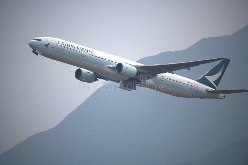Cathay Pacific Boeing 777-367 fotografia de stock
