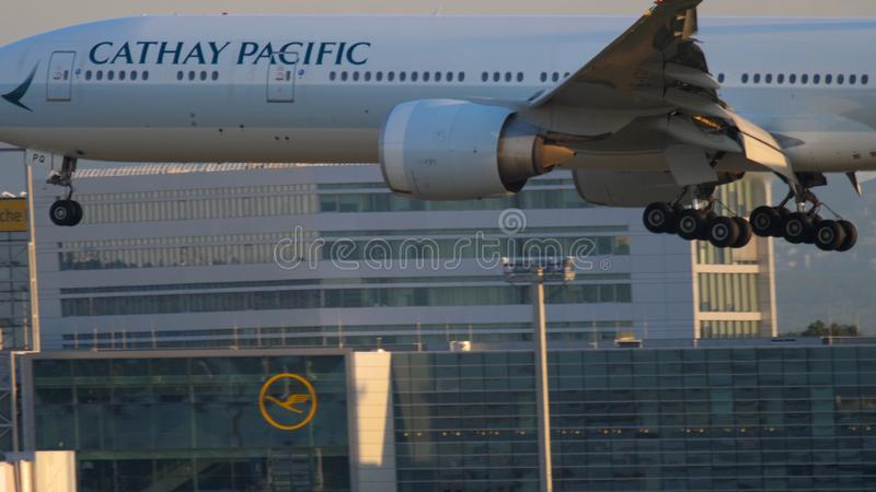Cathay Pacific Boeing 777 approaching stock images