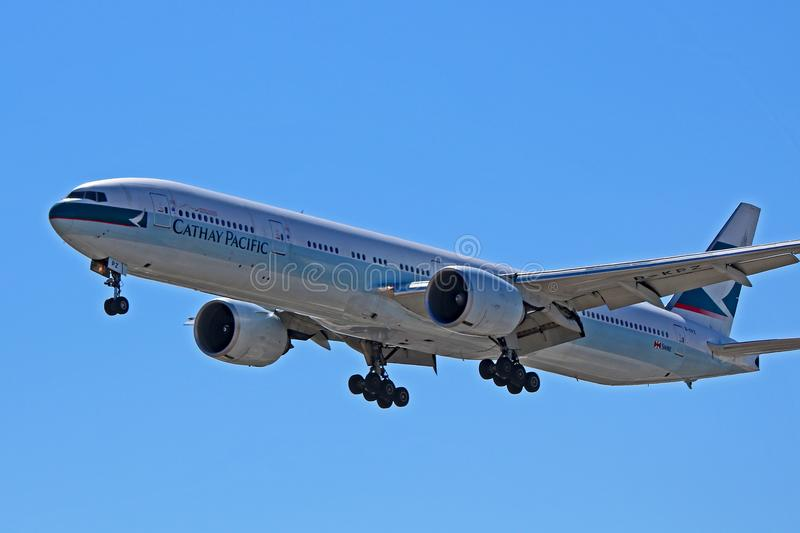 Cathay Pacific Boeing 777-300ER B-KPZ stock photos