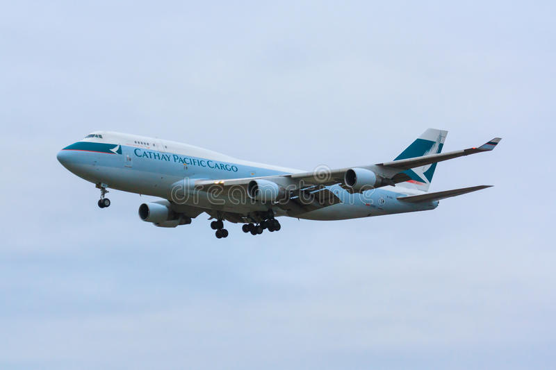 Cathay Pacific Cargo 747 royalty free stock photography