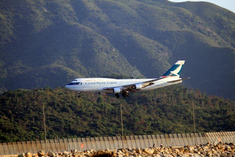 Cathay Pacific last fotografering för bildbyråer