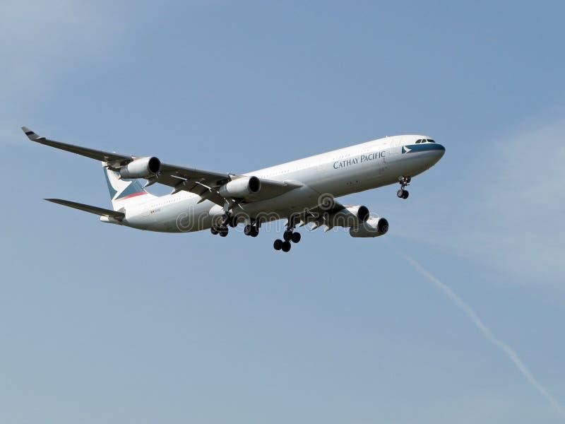 Cathay Pacific nivå arkivfoton
