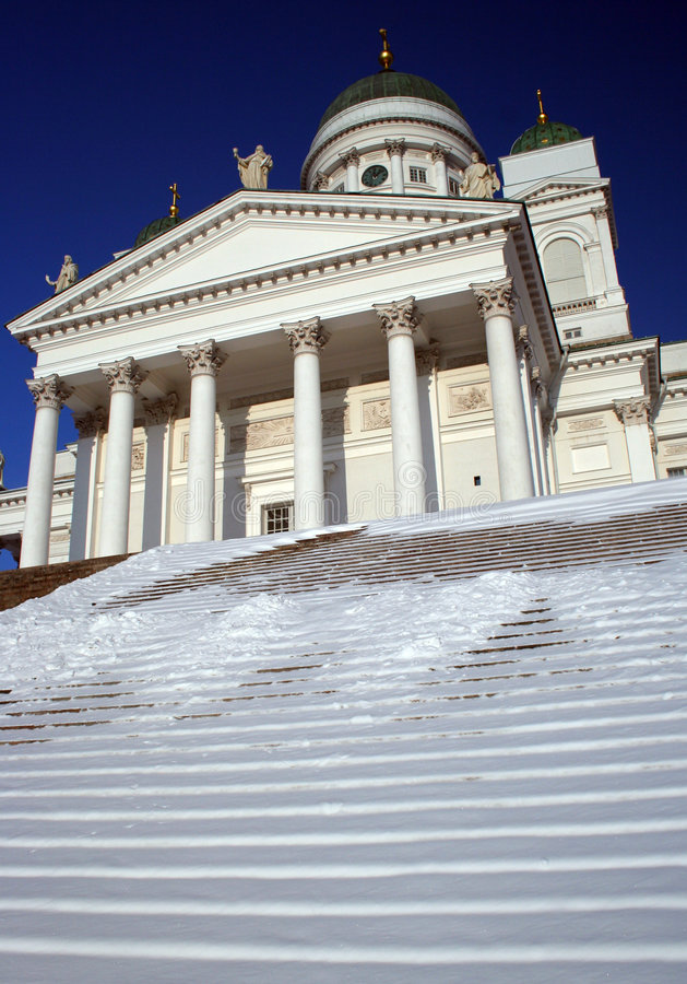 cathederal Helsinki Finlandia fotografia royalty free