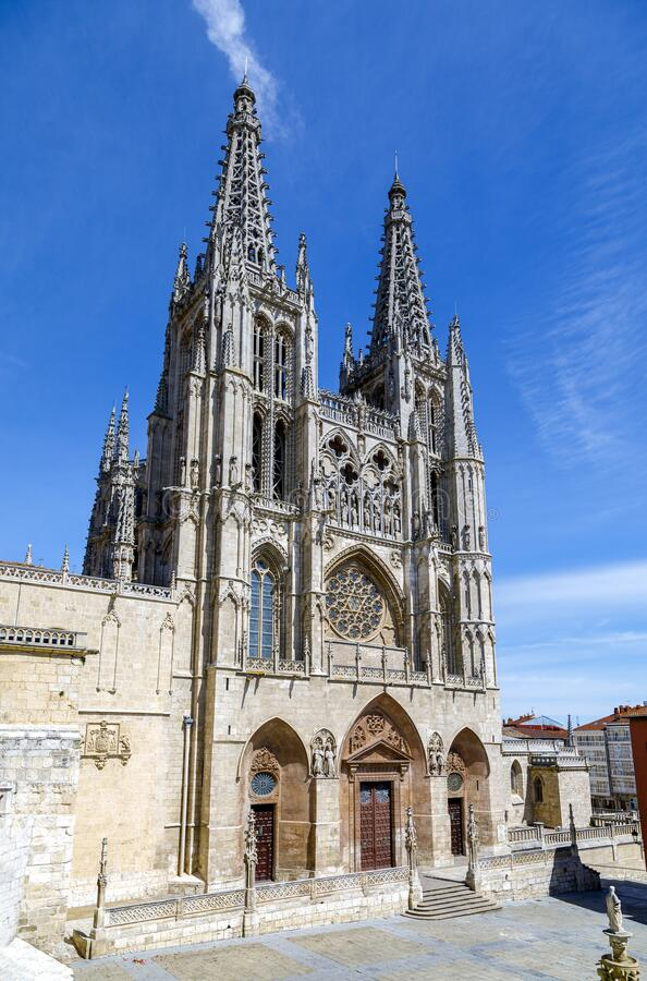 Cathedraal in Burgos, Spanje stock afbeelding