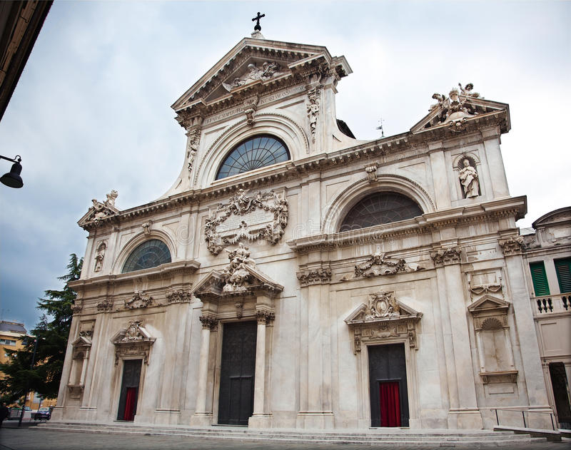 Cathedral (16th century) of Savona, Italy stock photography