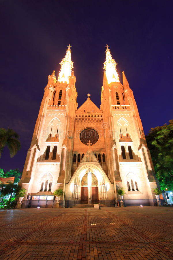 Download Cathedral stock photo. Image of indonesia, church, jakarta - 22146042