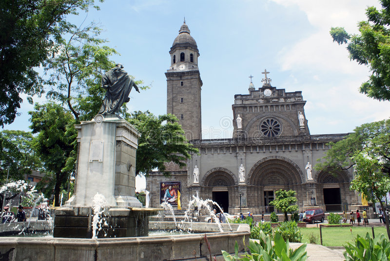 Download Cathedral stock photo. Image of manila, architecture, basilica - 5862632