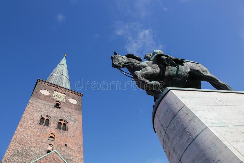 Cathedral of Aarhus. In Denmark stock photo