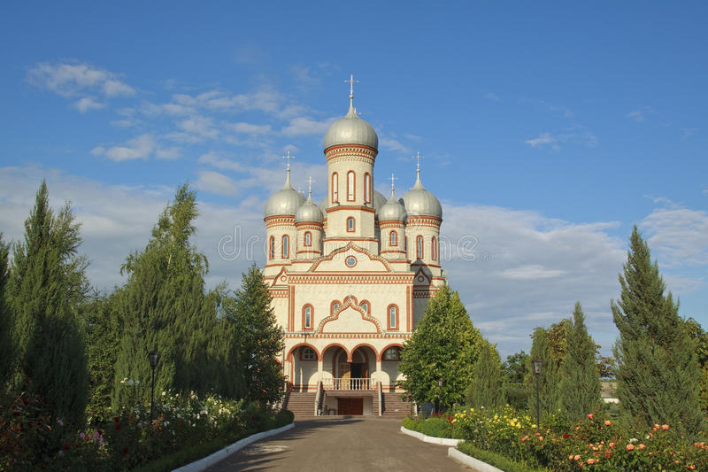 Cathedral Adormirea Maicii Domnului, RM, Drochia stock photo