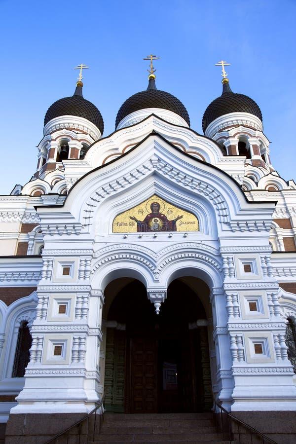 A cathedral of Alexander Nevskiy stock photo