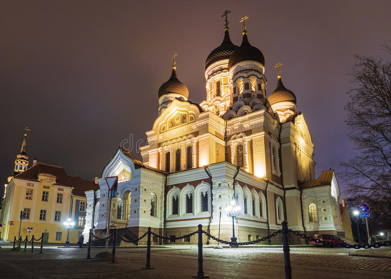 The Cathedral of Alexander Nevsky in Tallinn, Estonia.  royalty free stock image