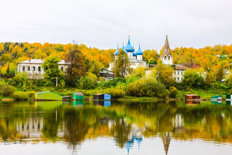 Cathedral of the Annunciation. View from the Klyazma River. Gorokhovets. Vladimir oblast, Russia stock image