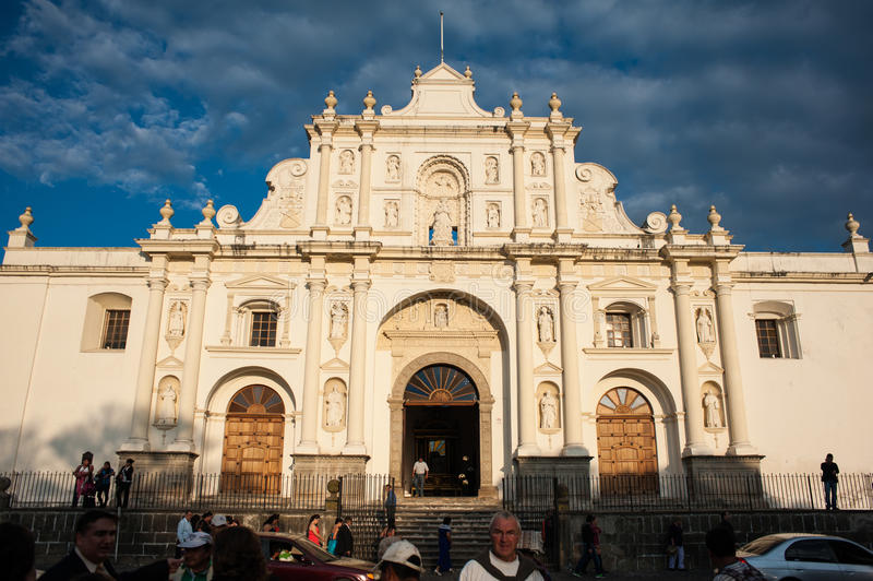 The Cathedral of Antigua stock photography