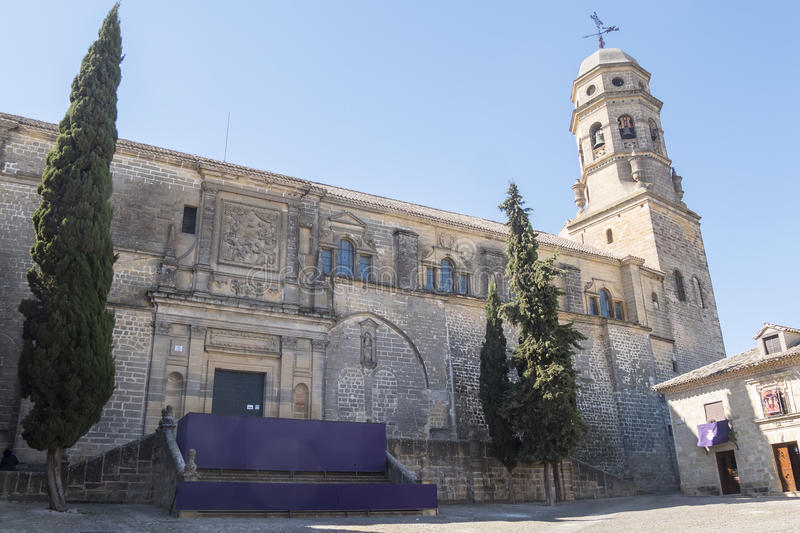 Cathedral of the Assumption of the Virgin of Baeza, Jaen, Spain stock images