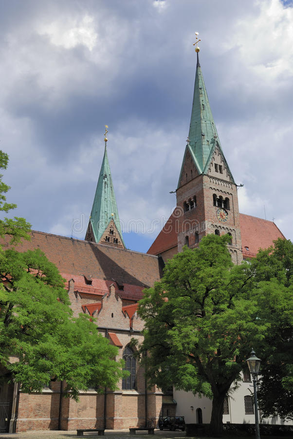 Cathedral of Augsburg. (Bavaria, Germany stock images